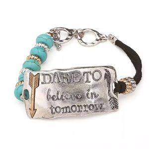 Dare to Believe in Tomorrow Inspiration Bracelet